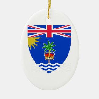 British Indian Ocean Territory Coat of Arms Ceramic Oval Decoration