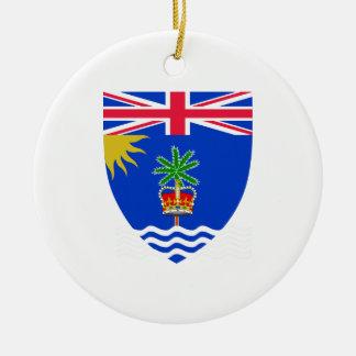 British Indian Ocean Territory Coat of Arms Round Ceramic Decoration