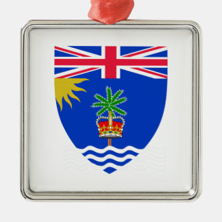 British Indian Ocean Territory Coat of Arms Silver-Colored Square Decoration
