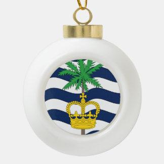 British Indian Ocean Territory Flag Ceramic Ball Decoration
