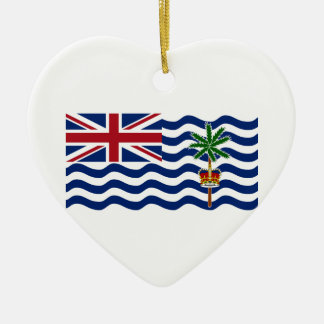British Indian Ocean Territory Flag Ceramic Heart Decoration