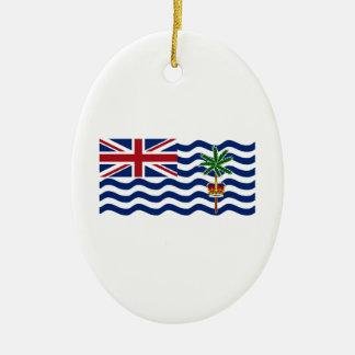 British Indian Ocean Territory Flag Ceramic Oval Decoration