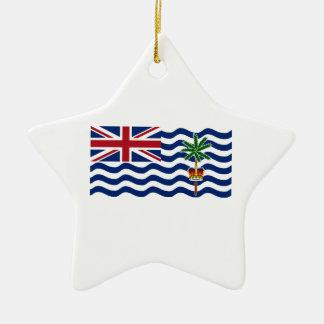 British Indian Ocean Territory Flag Ceramic Star Decoration