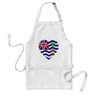 British Indian Ocean Territory Flag Heart Adult Apron