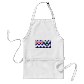 British Indian Ocean Territory Flag Jewel Adult Apron