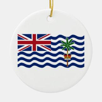 British Indian Ocean Territory Flag Round Ceramic Decoration