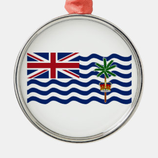 British Indian Ocean Territory Flag Silver-Colored Round Decoration