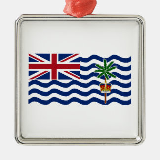 British Indian Ocean Territory Flag Silver-Colored Square Decoration