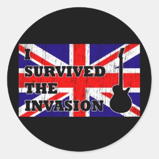 British Invasion Round Sticker