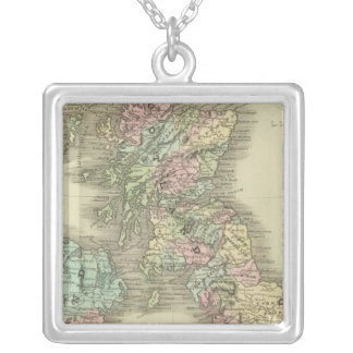 British Islands 3 Silver Plated Necklace