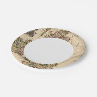 British Islands, England, Ireland 7 Inch Paper Plate