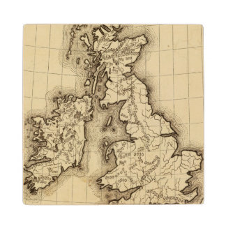 British Islands Wood Coaster