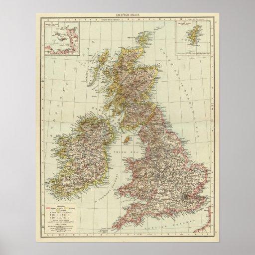 British Isles 10 Poster
