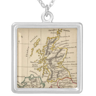 British Isles 3 Silver Plated Necklace