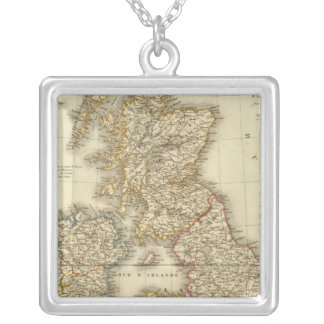 British Isles 4 Silver Plated Necklace