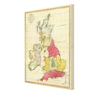 British Isles 5 Canvas Print