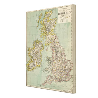 British Isles 6 Canvas Print