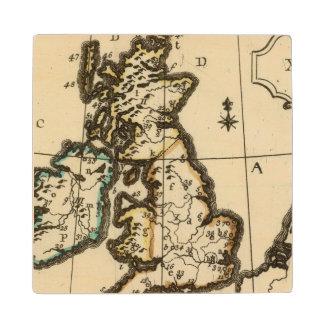 British Isles 7 Wood Coaster