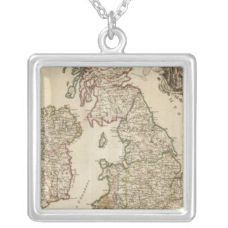 British Isles 9 Silver Plated Necklace