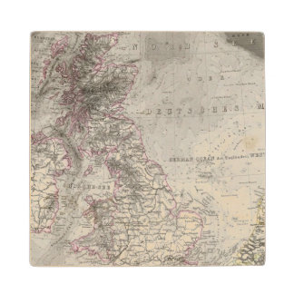 British Isles and surrounding sea Wood Coaster