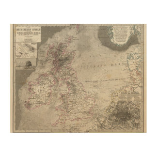 British Isles and surrounding sea Wood Print