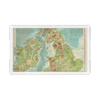 British Isles bathyorographical map