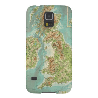 British Isles bathyorographical map Galaxy S5 Cases
