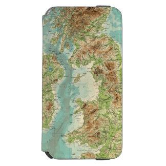 British Isles bathyorographical map Incipio Watson™ iPhone 6 Wallet Case