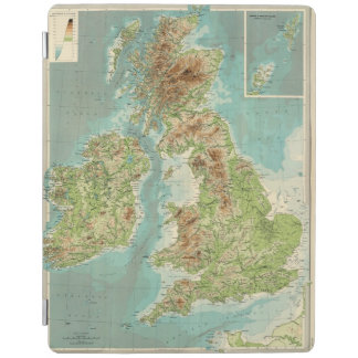 British Isles bathyorographical map iPad Cover