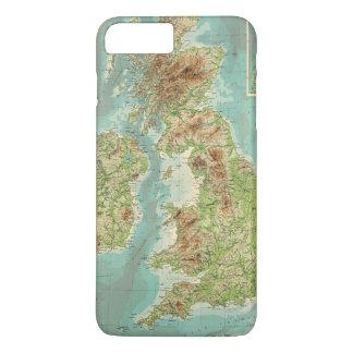British Isles bathyorographical map iPhone 8 Plus/7 Plus Case