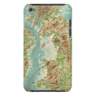 British Isles bathyorographical map iPod Case-Mate Cases