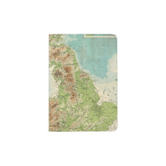 British Isles bathyorographical map Passport Holder