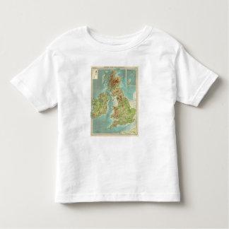 British Isles bathyorographical map Toddler T-Shirt
