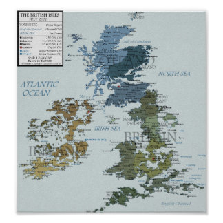 British Isles in 2100 Poster
