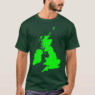 British Isles in Green T-Shirt