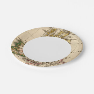 British Isles Map 7 Inch Paper Plate