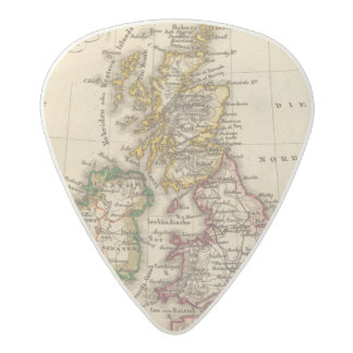 British Isles Map Acetal Guitar Pick