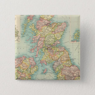 British Isles political map 15 Cm Square Badge