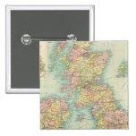 British Isles political map 15 Cm Square Badge
