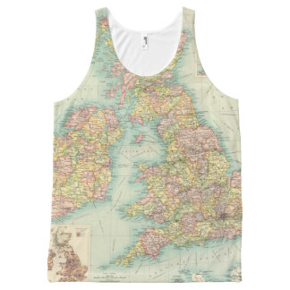 British Isles political map All-Over Print Tank Top