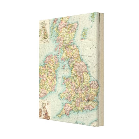 British Isles political map Canvas Print