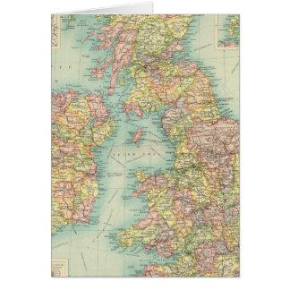 British Isles political map Card