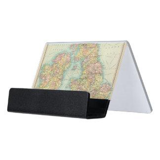 British Isles political map Desk Business Card Holder