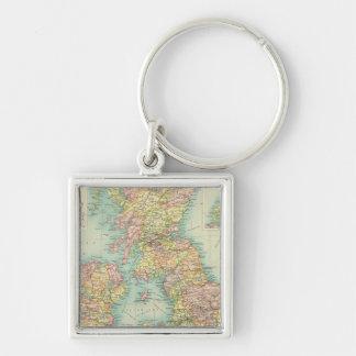 British Isles political map Key Ring