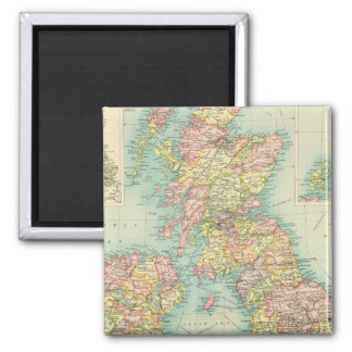 British Isles political map Magnet