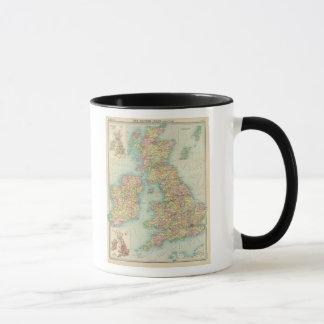 British Isles political map Mug