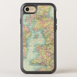 British Isles political map OtterBox Symmetry iPhone 8/7 Case