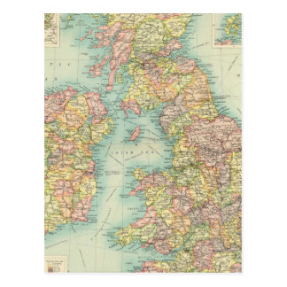 British Isles political map Postcard