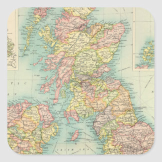 British Isles political map Square Sticker