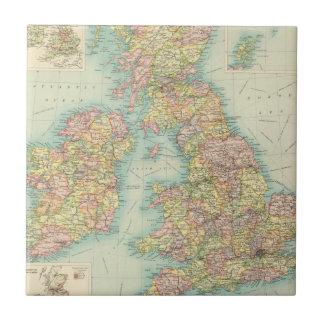 British Isles political map Tile